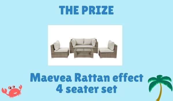 Win a garden rattan effect 4 seater set
