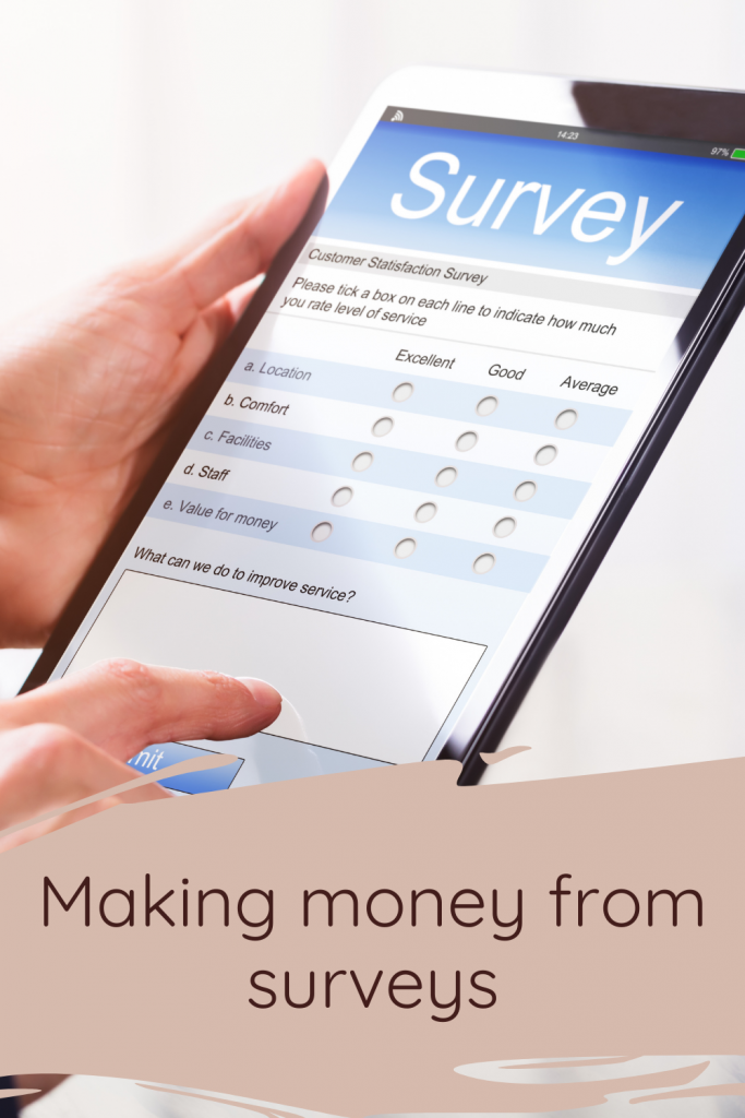 Making money from surveys